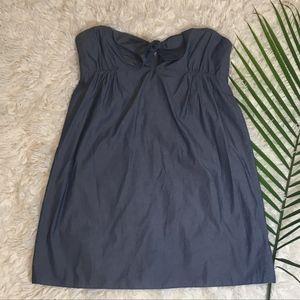 J. Crew Strapless Chambray Style Dress XL